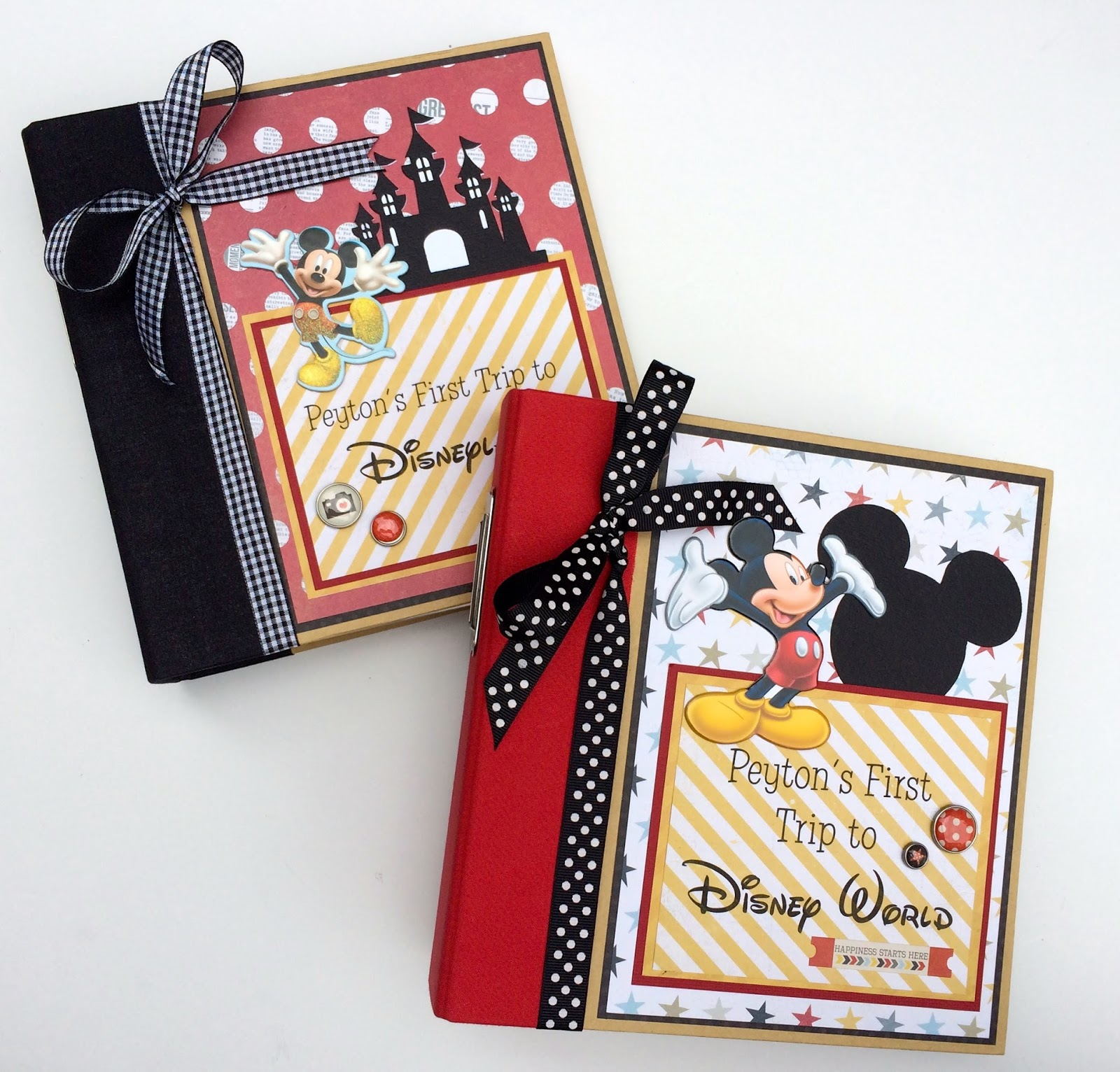 How to scrapbook disney - The Albums Will Hold At Least 30 35 Photos And Also Have Space For Notes From Your Trip They Are The Perfect Size To Carry With You To Show Family