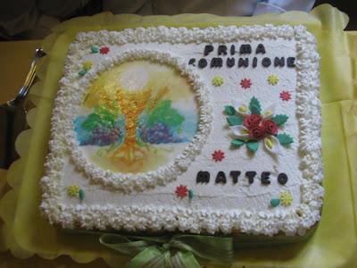 Pentole e allegria torta per la comunione del mio for Decorazione x cresima