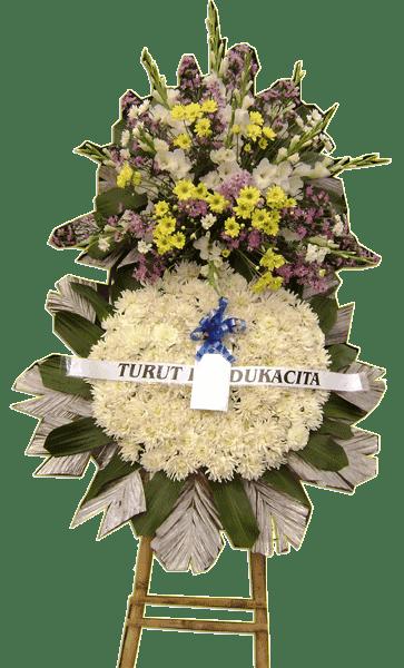 Image result for bunga krans belasungkawa