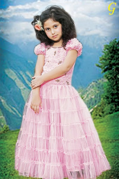 Cute Girls Frocks Pictures-Pink-Frock-For-Kids Images