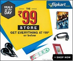 99 Store on Flipkart (Deals of the Day) – 12 great deals, priced at or below Rs.99
