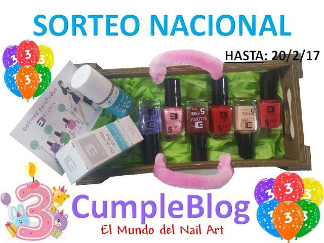 ¡¡¡Mi 3°CumpleBlog!!! ¡SORTEO NACIONAL con Elisabeth Llorca! #Esmaltes5Free