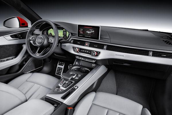 new Audi A4 B9 2016 interior