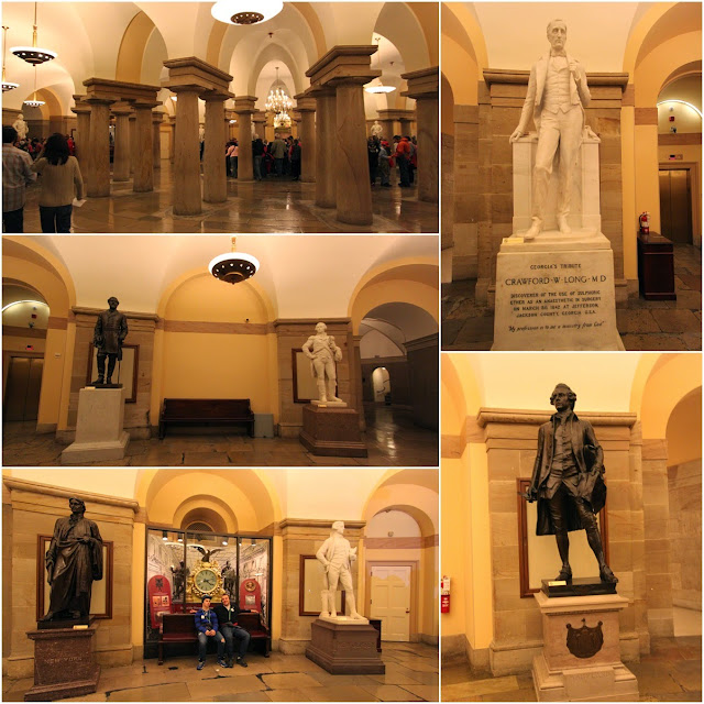 Group Tour begins at the Exhibition Hall in United States Capitol at Washington DC, USA