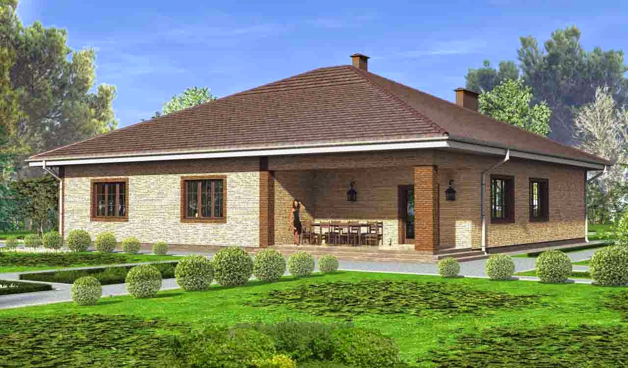 Дизайн одноэтажных домов фото снаружи
