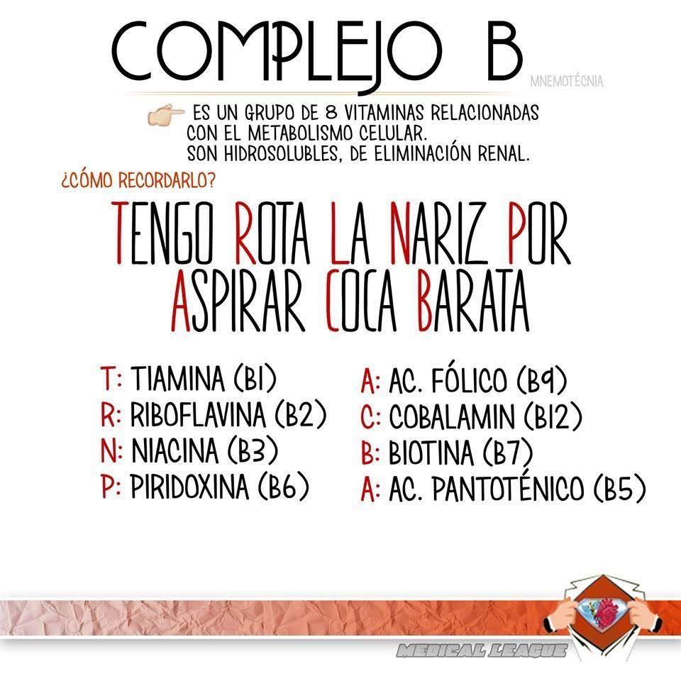 Complejo b mnemotecnia complejo b mnemotecnia urtaz Choice Image