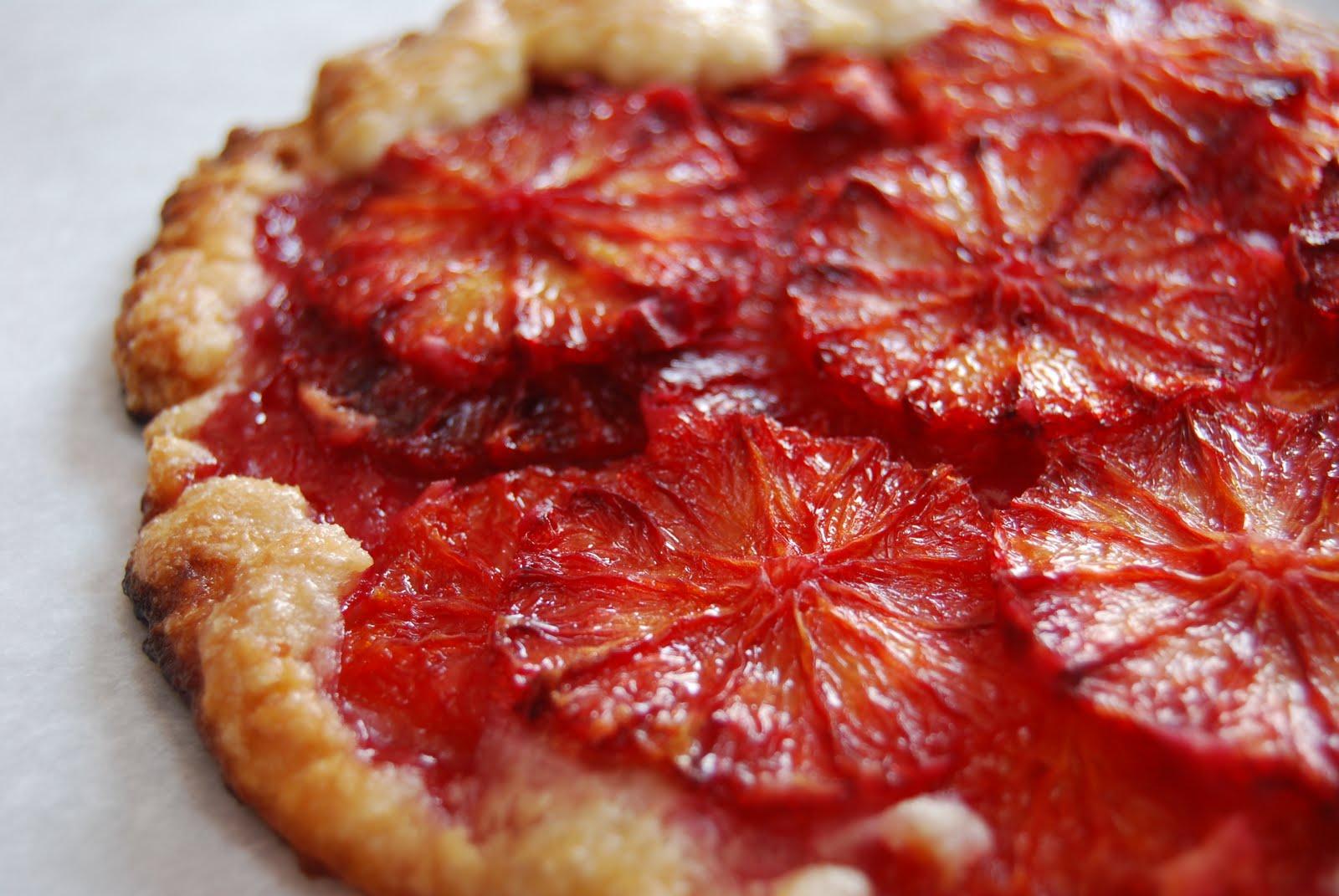 Flaky Blood Orange Tart Recipe — Dishmaps