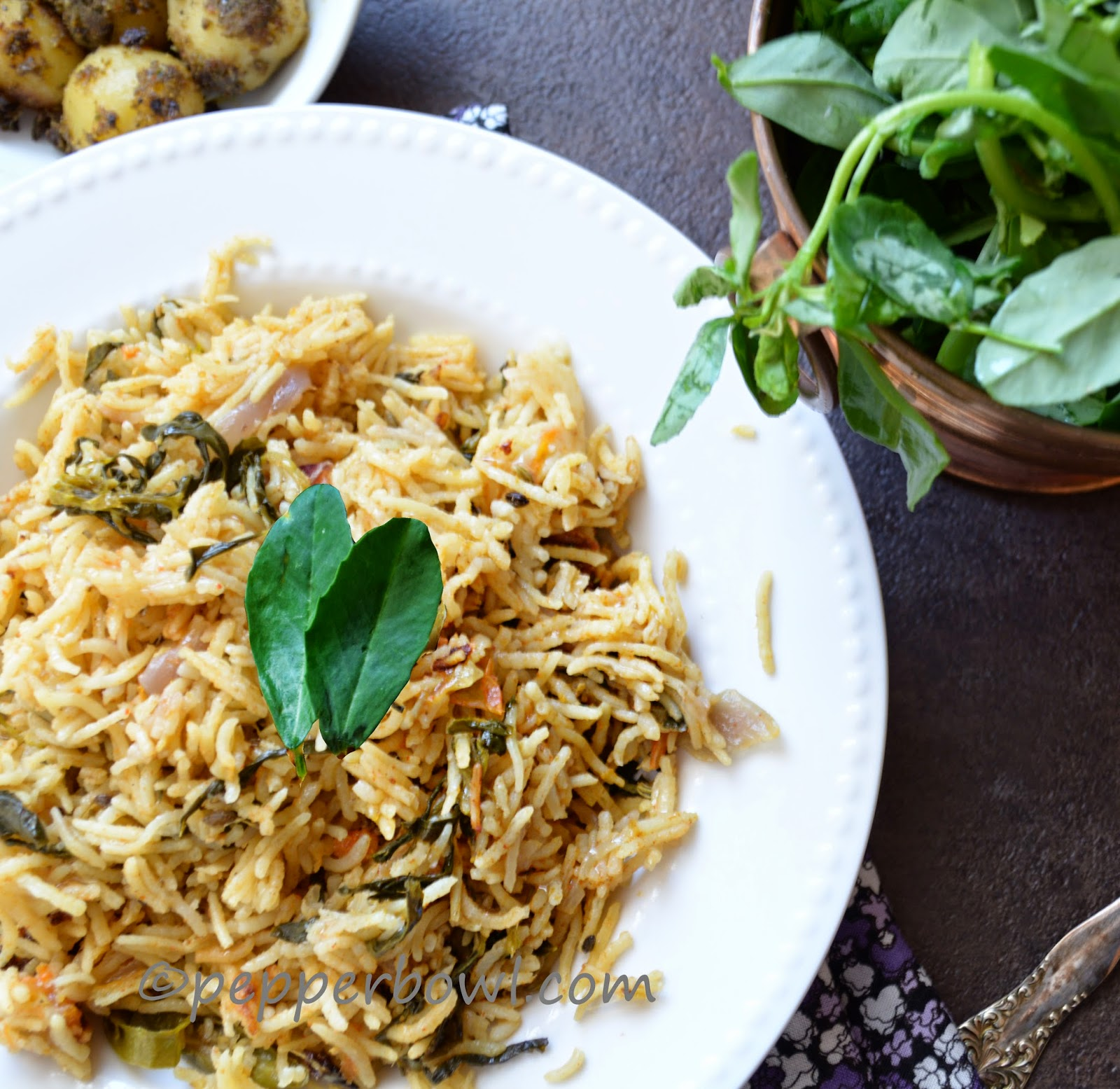 Methi Biryani / Fenugreek Leaves Rice Recipe