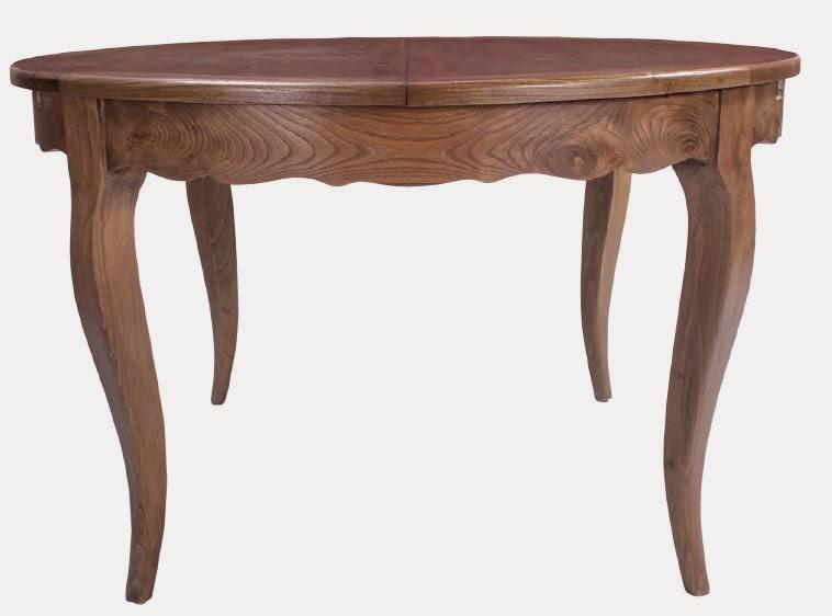 mesa roble redonda, mesa de comedor