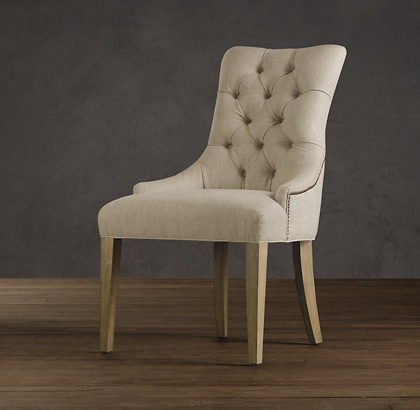 RESTORATION HARDWARE MARTINE UPHOLSTERED ARMCHAIR