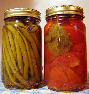 Pickled Tomatoes and Dilly Green Beans from LEF Winter Share