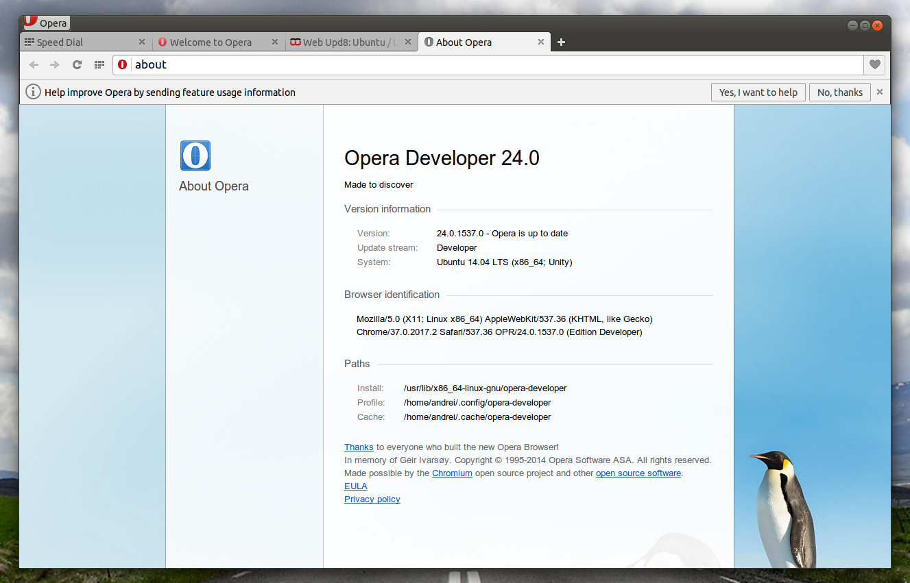 Opera finally sees new linux update with opera 24 Linux browser