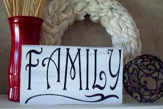 family2 Family Sign Shelf Sitter