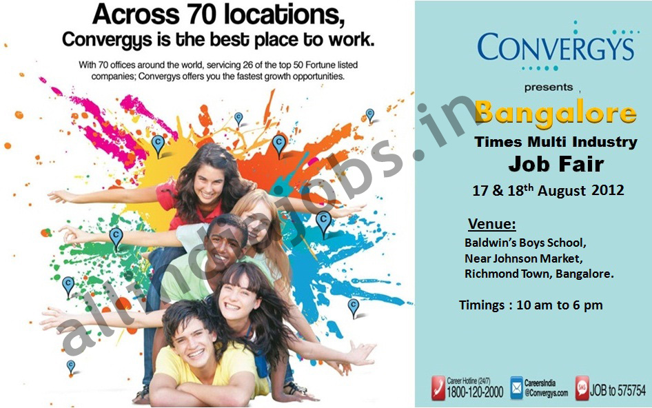 convergys presents  u0026quot bangalore times multi industry job