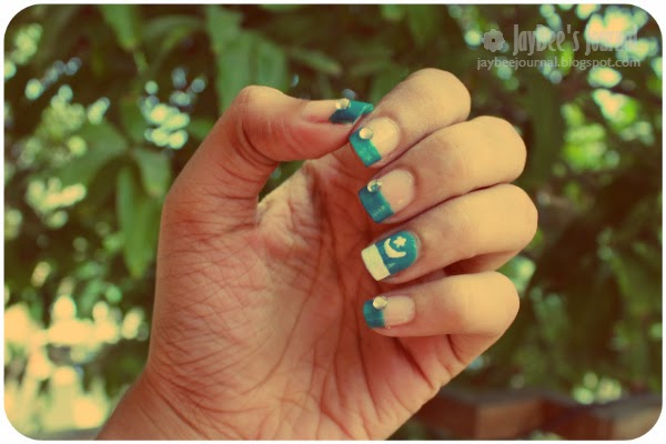 Pakistan Independence Day, Pakistani nail art and beauty blog