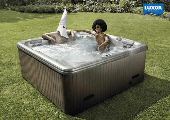 Luxor Hot tubs & Saunas controversial print ad