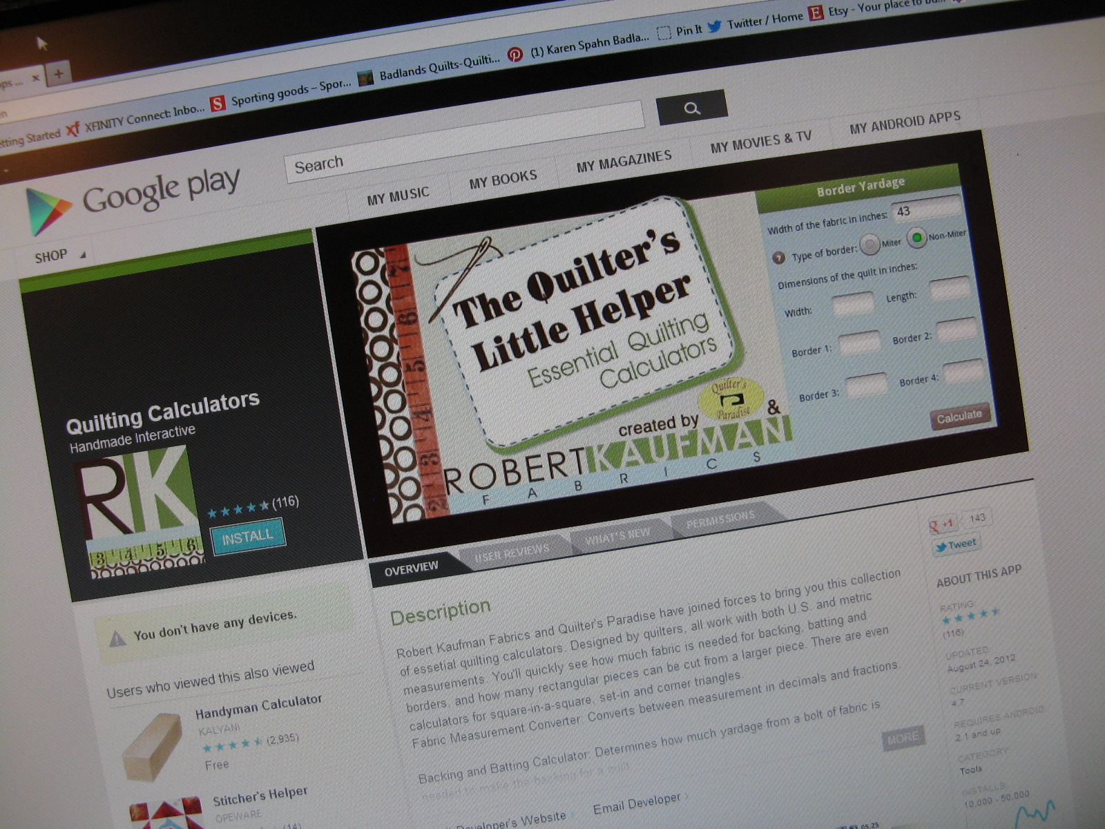 Robert Kaufman Quilting Calculator App Review | Minneapolis Modern ... : fabric calculator for quilts - Adamdwight.com