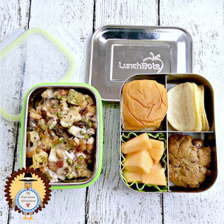 My Epicurean Adventures: Lunch Box Fun 2015-16: Week #16 - Turkey Tetrazzini Lunch. Lunch box ideas, school lunch ideas, lunches