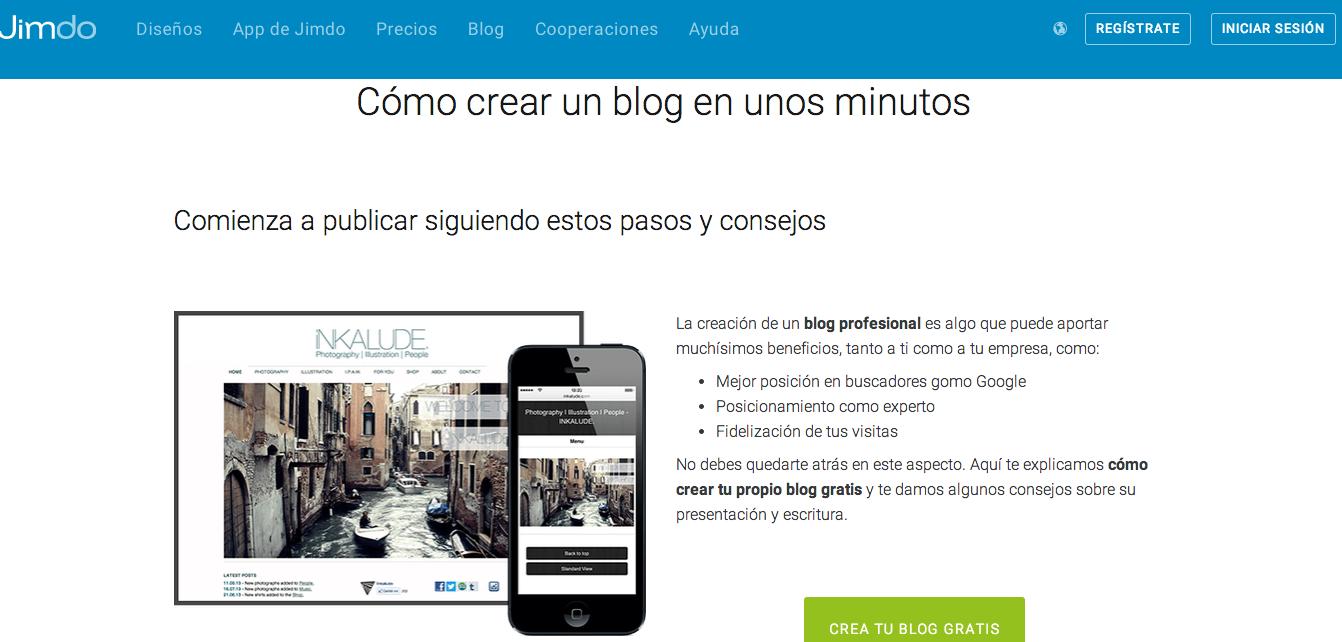 crear blogs y paginas gratis