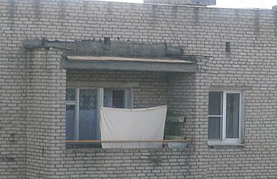 Стелим рубероид на крышу лоджии
