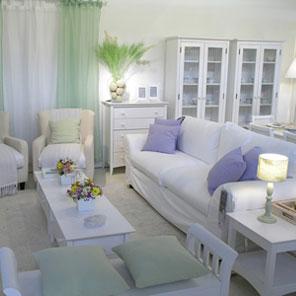 Sophia e a casinha de gengibre sof branco infinitas op es for Sala de estar estilo vintage