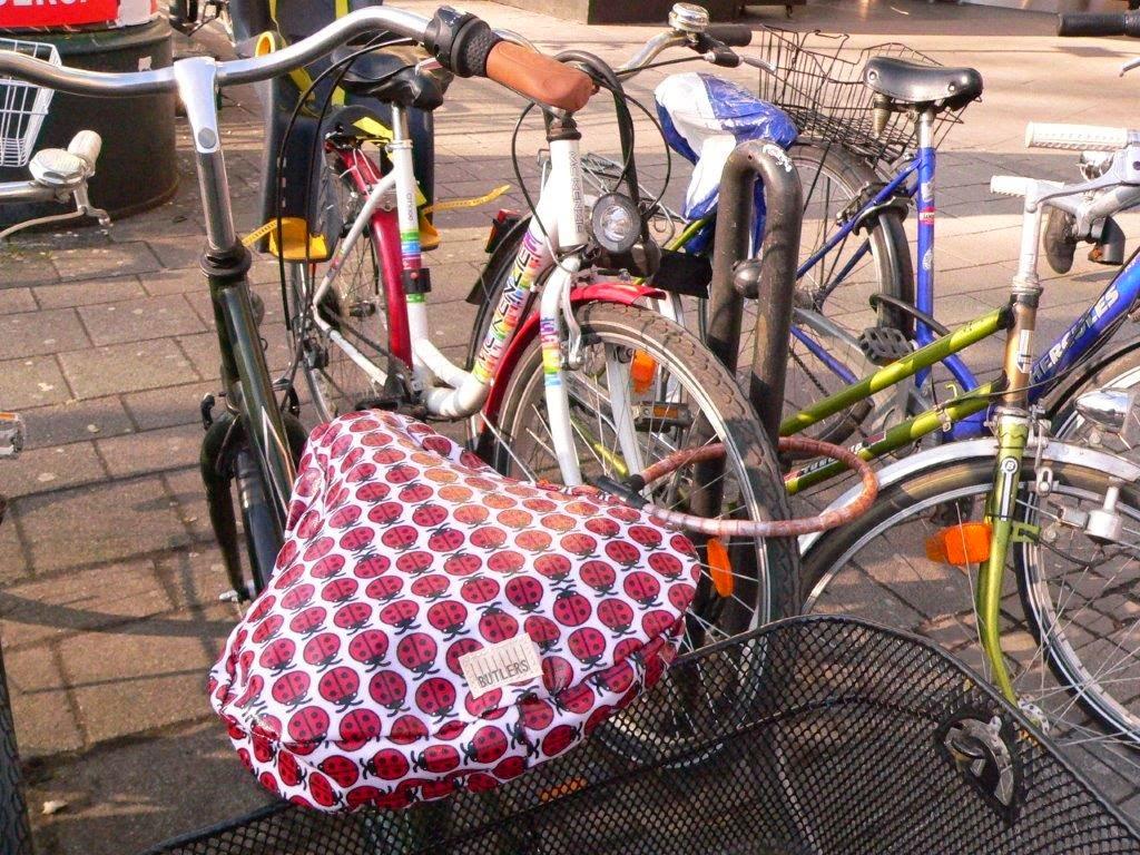 Fahrrad Köln Blogparade Rad radeln fietsen Sattelschutz Bezug Marienkäfer