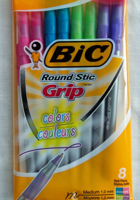 http://www.amazon.com/Bic-Round-Stic-Grip-Colors/dp/B00ESJQHF6/ref=sr_1_1?ie=UTF8&qid=1397001833&sr=8-1&keywords=bic+round+stic+colors