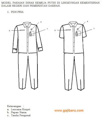 Model PDH PNS Pria Kemendagri dan Pemda