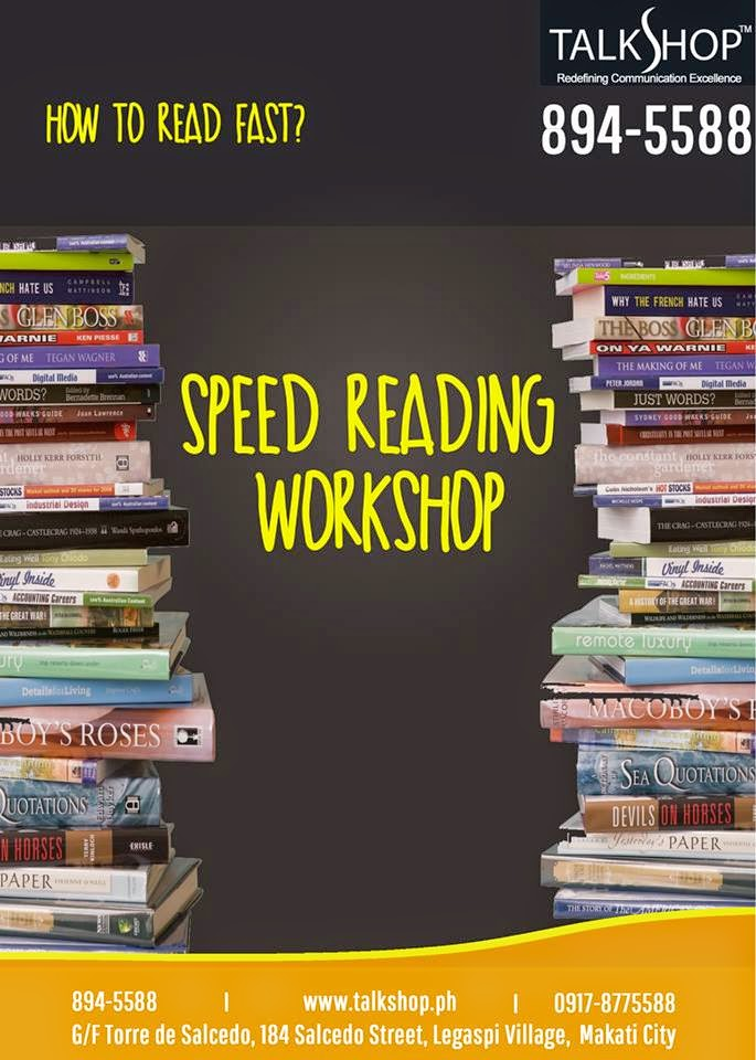 TalkShop Speed Reading Workshop