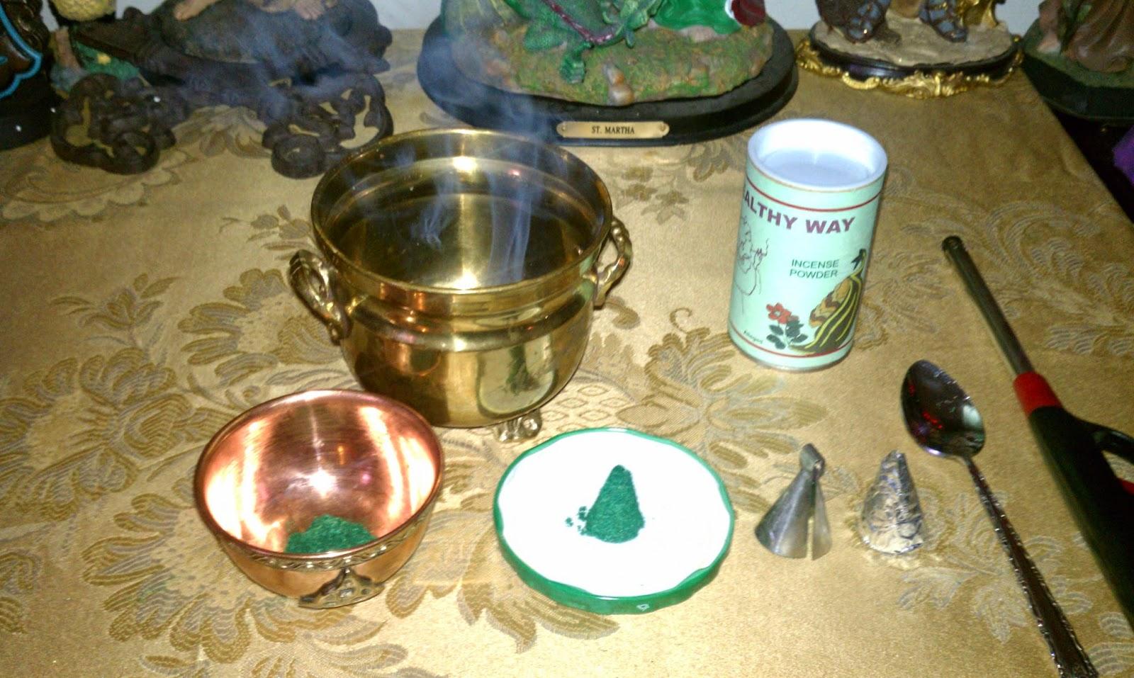 my secret hoodoo burning powdered incense