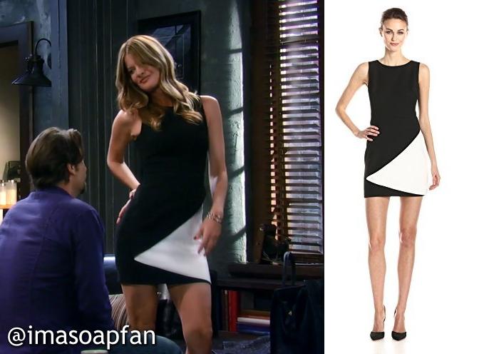I M A Soap Fan Nina Clay S Black And White Dress