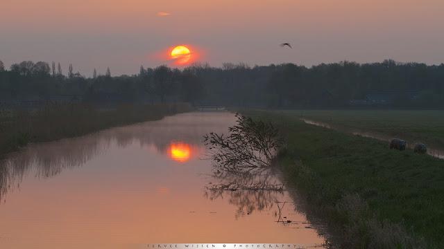 Zonsopkomst in de Polder - Sunrise in the field
