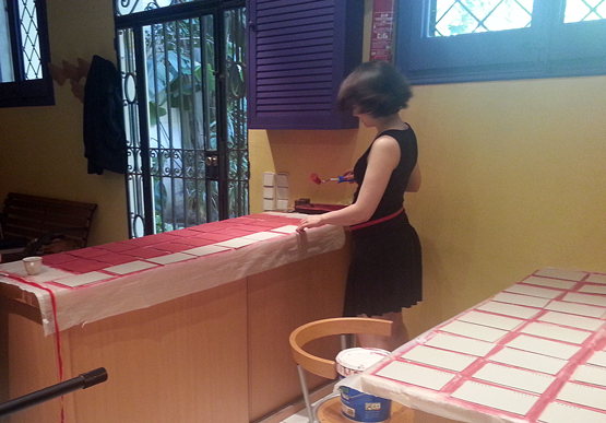 Pintant cartrons i capçades