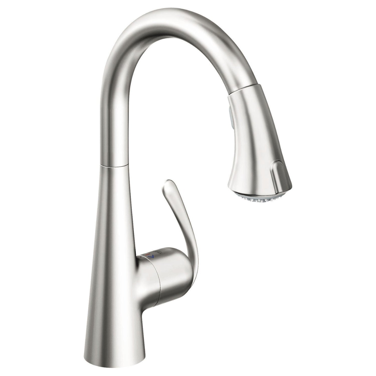 Faucet Sink Kitchen : Grohe 32298SD0 Ladylux3 Main Sink Dual Spray Pull-Down Kitchen Faucet ...