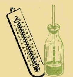 Термометр из бутылки