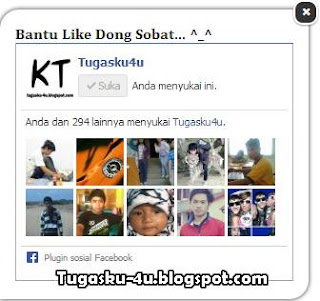 Fanspage facebook melayang di blog