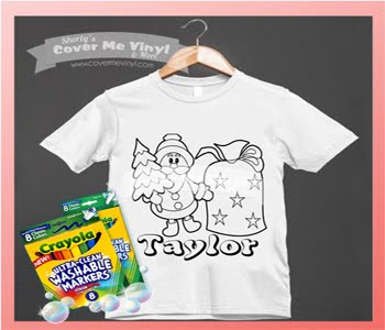 Color Me Santa Tree Shirt Kit