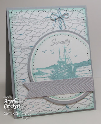 ODBD Fishing Net Background, The Waves on the Sea, Card Designer Angie Crockett