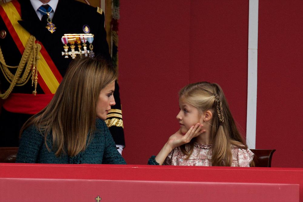 Spanish King Felipe VI, Queen Letizia and their daughters, Princesses Leonor and Sofia