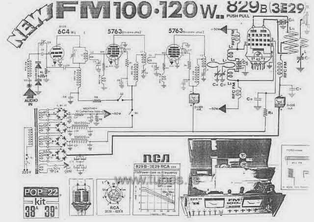 electronica retro  circuito transmisor de fm valvular