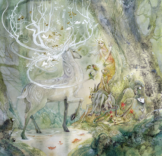 mythological  watercolor paintings by Stephanie Law