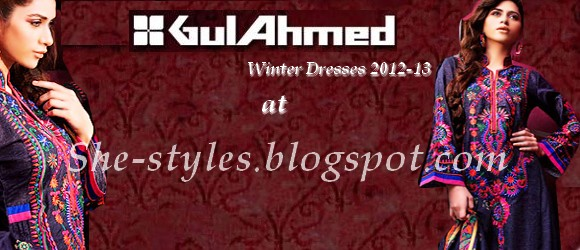 Gul Ahmed Winter Dresses 2012-2013