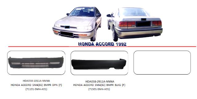 Bemper Honda Accord 1992