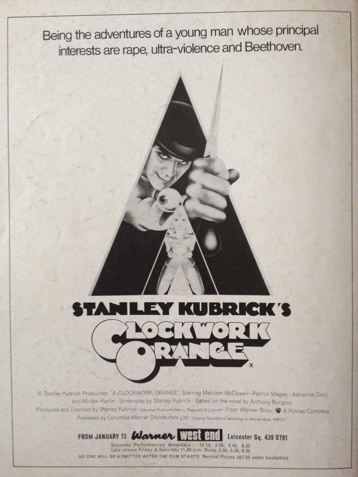 black hole reviews flashback a clockwork orange the films and filming