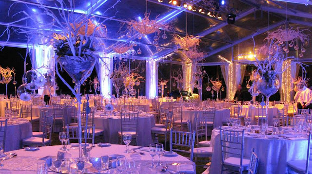 Marquee party wedding tent with the glass walls