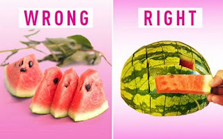 An easier way to cut a watermelon to get the most out of it – and to share with many