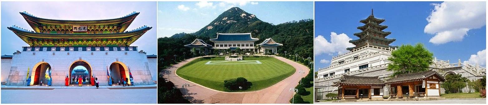 Du lịch Hàn Quốc Cung điện hoàng gia Kyeong-bok, Bảo tàng dân gian quốc gia, Nhà Xanh – Phủ tổng thống