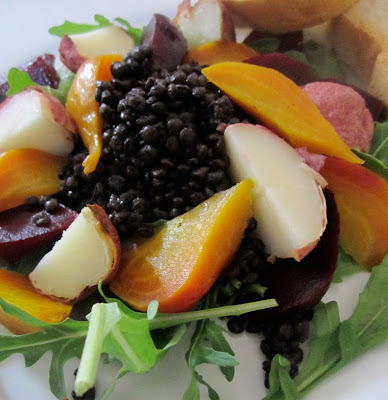 black lentil beet salad