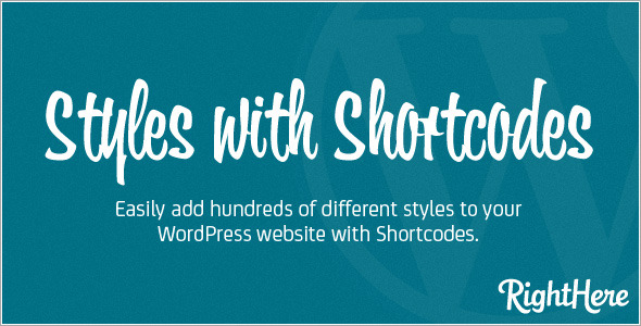 CodeCanyon - Styles with Shortcodes for WordPress