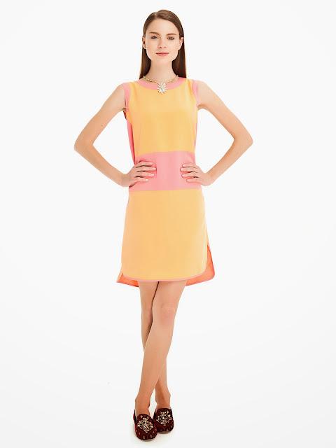sarı elbise, pembe elbise, 2014 elbise modelleri, ipekyol,